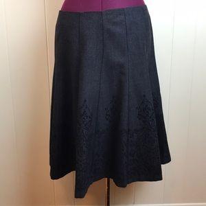 3/$27 Covington Graphic Artsy Skirt